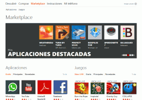 marketplace de windows phone