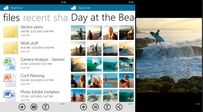 Versión de 2 de SkyDrive para Windows Phone