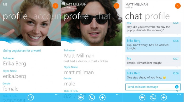 Disponible la versión final de Skype para Windows Phone 7