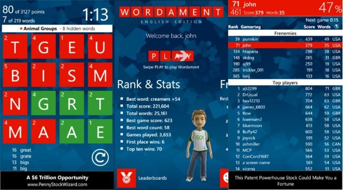 """El """"Apalabrados"""" de Windows Phone, Wordament, se convierte en un juego Xbox Live"""