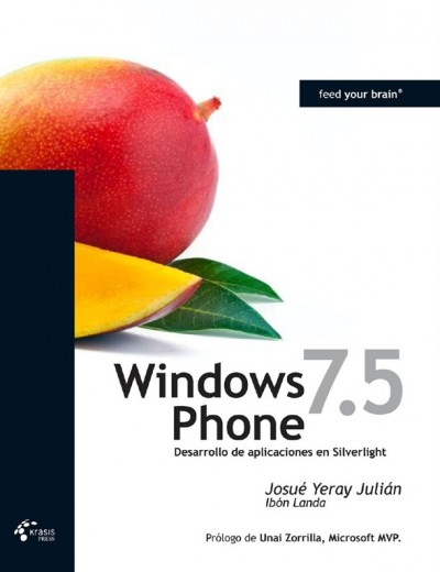 "Portada del libro Windows Phone 7.5 ""Mango"" de Krasis Press"