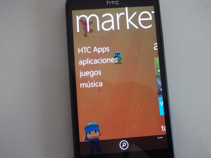 Marketplace de un HTC