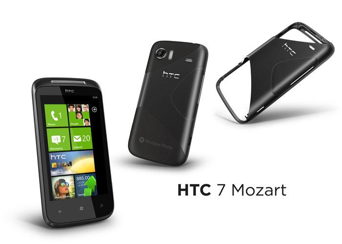 HTC 7 Mozart con chasis de aluminio
