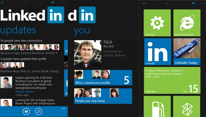 Linkedin App para Windows Phone
