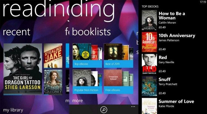Nokia Reading for WP7