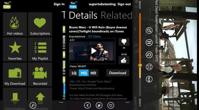 App de Youtube para Windows Phone