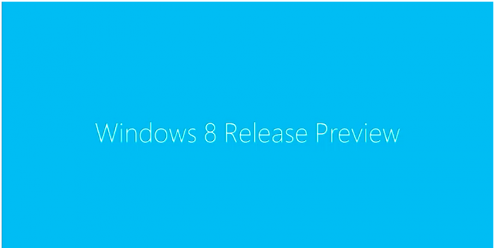 Windows 8 Release Preview Banner