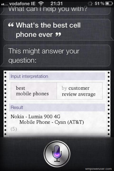 Siri quiere un Nokia Lumia 900