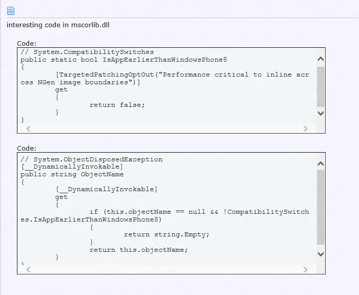WP8 Compatibility code