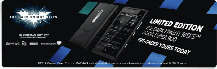 Nokia Lumia 900 The Dark Knight Rises Edition