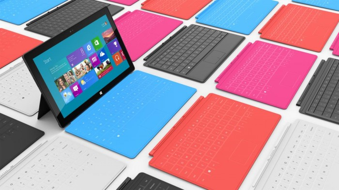 Microsoft Surface con Windows 8 RT