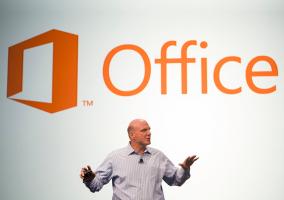 Steve Ballmer Anuncia Microsoft Office en San Francisco el 16 de julio de 2012