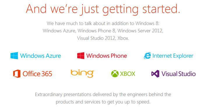 Captura de los logotipos de Microsoft