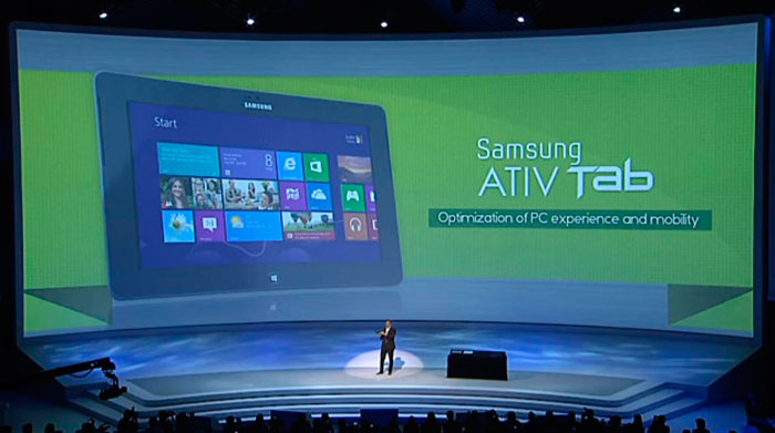 Samsung presenta sus tablets ATIV con windows 8