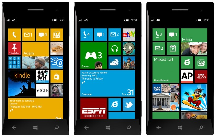 Windows Phone 8 Pantalla de inicio