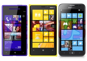 Tabla comparativa del Nokia, HTC y Samsung con Windows Phone 8