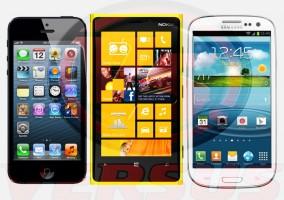 Los tres smartphone del momento