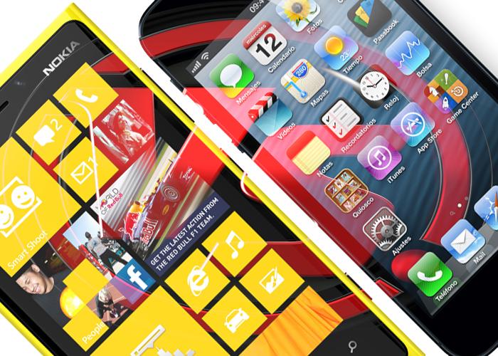 Comparativa iPhone 5 vs Nokia Lumia920 smartphone