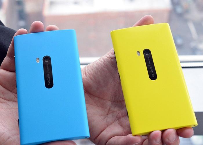 Nokia Lumia 920 cian y amarillo