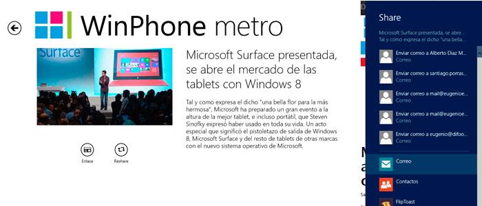 Windows 8 | Compartir contenidos