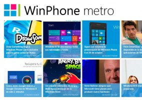 Aplicación de WinPhone metro para Windows 8 - Vista de inicio