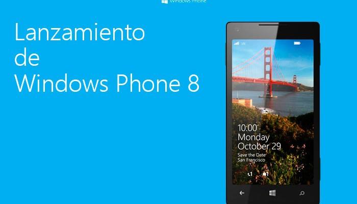 Lanzamiento de Windows Phone el 29 de octubre