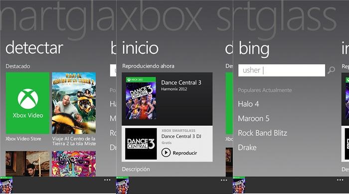 Xbox Smart Glass (Capturas de pantalla)