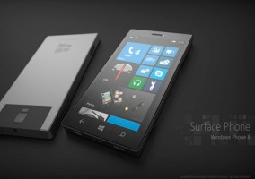 Mockup del rumoreado Microsoft Surface Phone