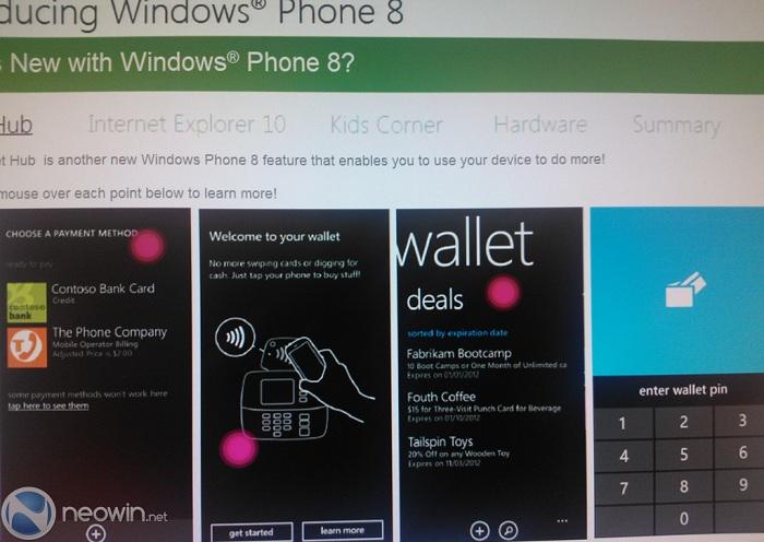 Formación sobre Windows Phone 8 - Wallet