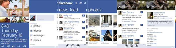 PAnoramica Aplicacion facebook windows phone 8