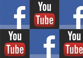 Aplicaciones Facebook, YouTube logo