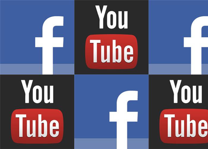 Aplicaciones Facebook, YouTube logo