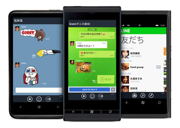 Line en Windows Phone