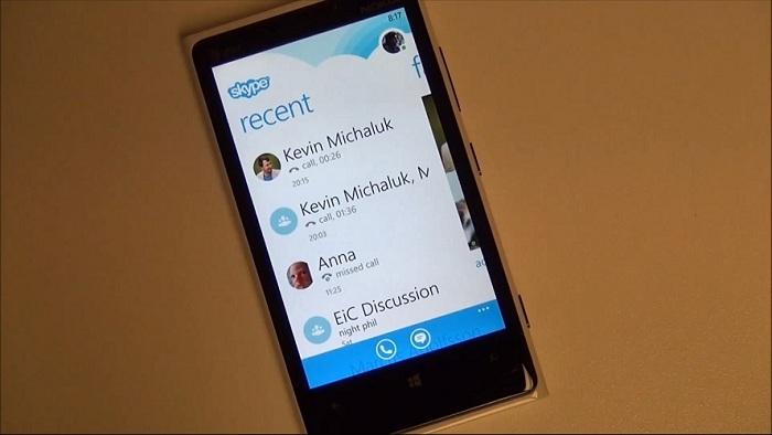 Skype funcionando en Windows Phone 8