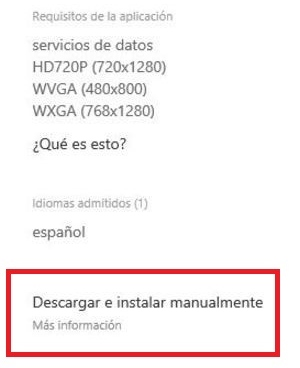 Descargar archivo XAP Windows Phone