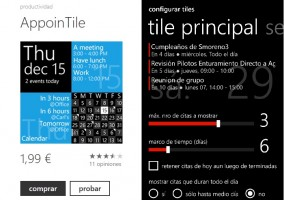 AppoinTile en Tienda Windows Phone