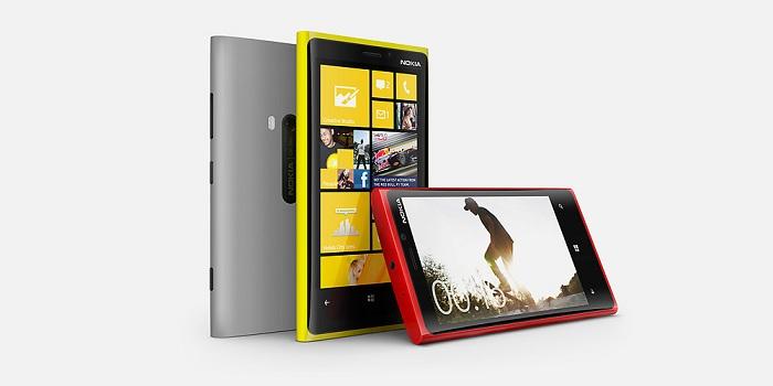 Nokia Lumia 920 en 3 colores