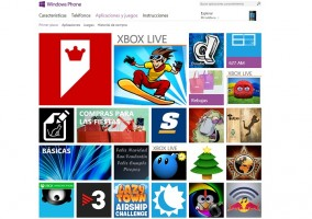 Pantalla principal de la Windows Phone Store
