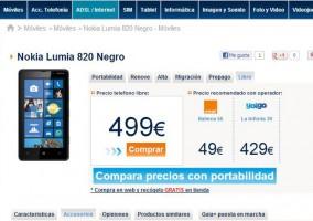 Nokia Lumia 820 en Phone House