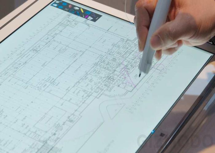 Stylus diseñado por Anoto para el tablet de 20 pulgadas de Panasonic