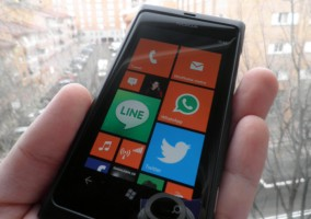 Pantalla de Inicio de Windows Phone 7.8