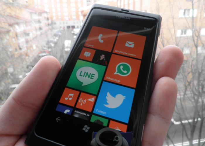 Pantalla de Inicio de Windows Phone 7.8