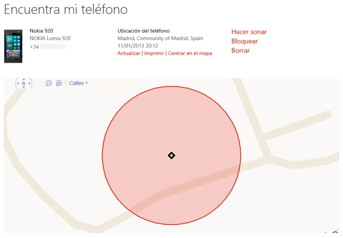 encuentra telefono windows phone web