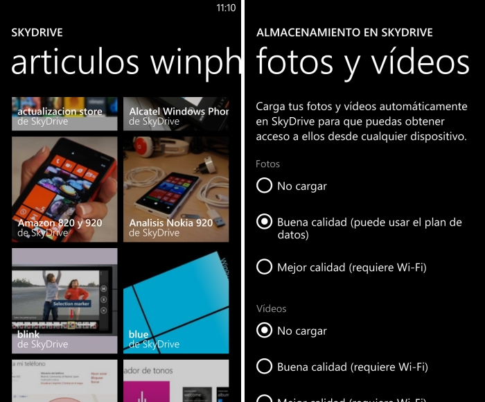 Fotos con SkyDrive