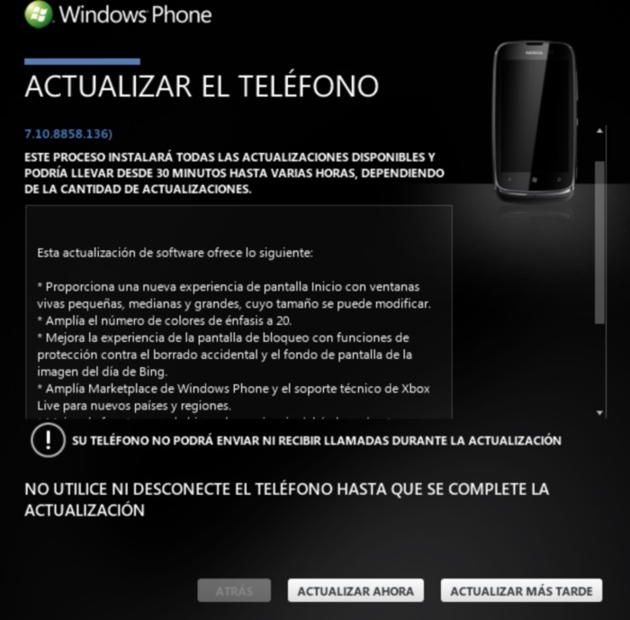 lumia 610 actualizacion wp78 paso final