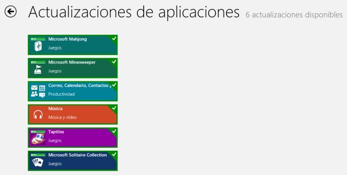Actualizaciones Windows 8