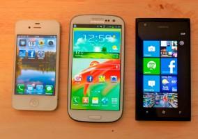 Comparación entre Windows Phone, Android e iOS