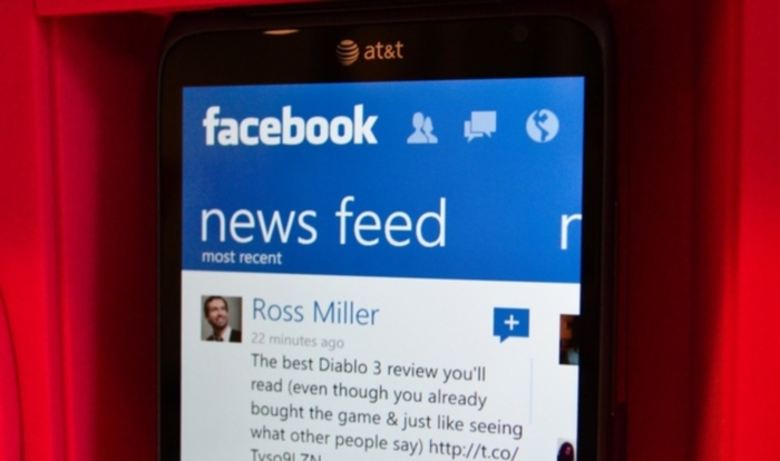 Facebook para Windows Phone 8