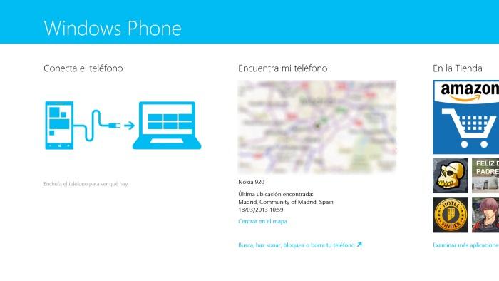 Inicio Windows Phone