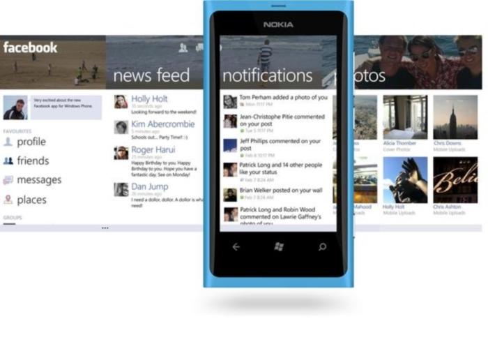 Nokia Facebook Windows Phone